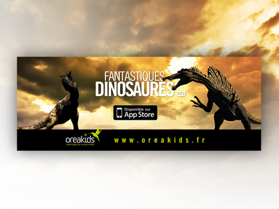 Flyer for Fantastic Dinosaurs App ipad app dinosaur