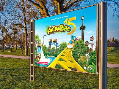 Animaparc logotype park dinosaur branding