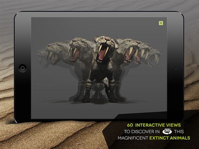 Creatures from the past 360 view prehistoric ipad app animal