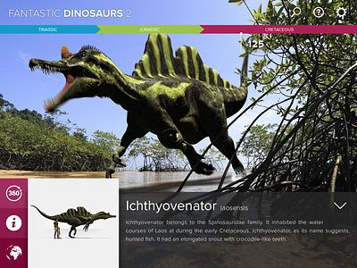 Fantastic Dinosaurs 2 - Main interface encyclopedia dinosaur