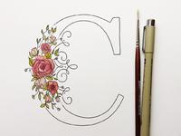 Floral Drop Cap