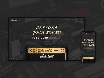 Marshall concept elegant site marshall vintage design vintage font desktop web ux ui