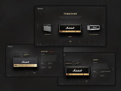 Marshall vintage font vintage design site marshall elegant desktop design concept web ux ui