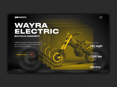 Wayra Electric bike 2 wayra tildaschool interface grid bike site desktop design concept web ux ui
