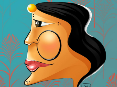 W O M A N woman illustration