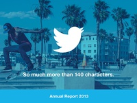 Twitter Annual Report Concept