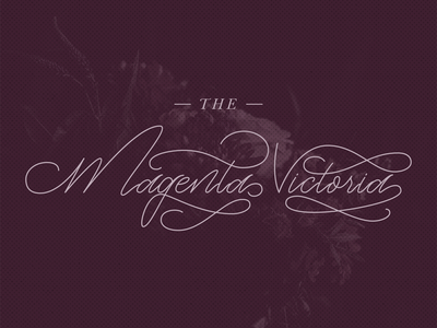 Magenta Victoria - Script Typography
