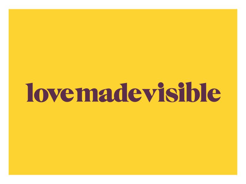 Love Made Visible Logo Design charity nonprofit logo design logo brand design brand branding identity