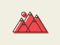 Mountain Icon Illustration