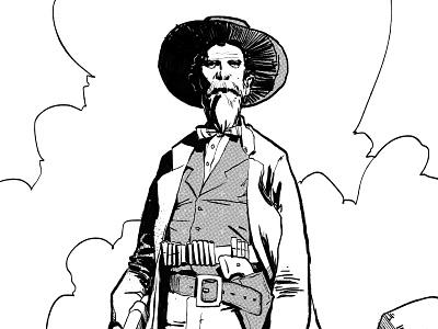 Cowboy Guy photoshop digital illustration