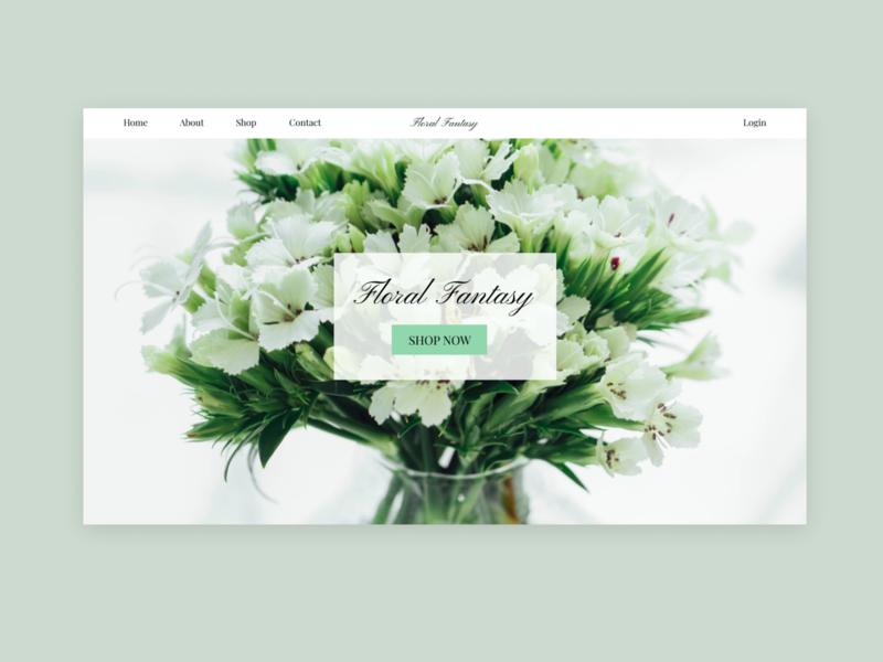 flowershop website ui design webdesign green nature floral flowershop uidesign