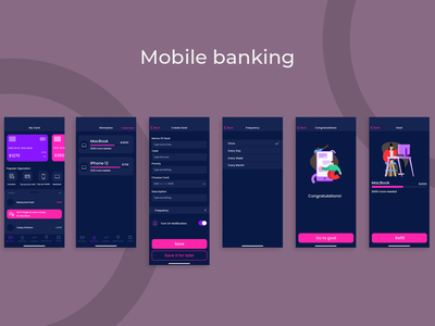 Mobile banking UI design mobile bank beginner ui ux mobile app mobile figma designer design app design app