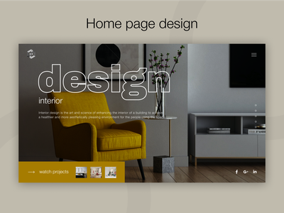 Interior studio home page design website design website web interior studio interior ux ui figma design
