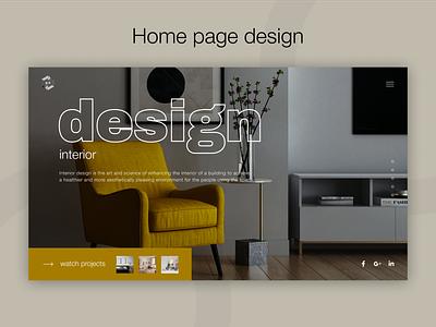 Interior studio home page design website design website web interior studio interior ux ui figma design
