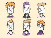 Moods and stuff clothing clothes hair hairstyle fashion man procreate illustration faces