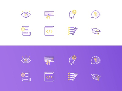 Accessibility Icons blind checklist tools documentation code education preceptive cognitive keyboard keyboard controls vision visual a11y accessibility iconography icon set icons illustrator illustration