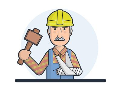 Workermans Comp Claim claim injury broken arm hammer mallet builder worker