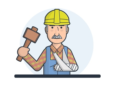 Workermans Comp Claim claim injury broken arm hammer mallet builder worker
