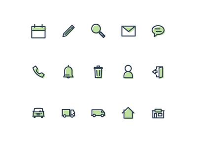 Icon Set Green