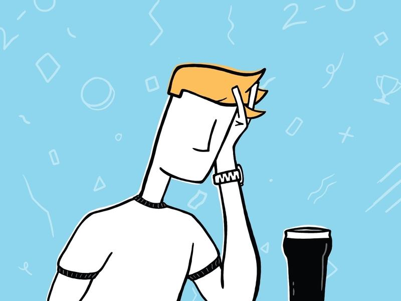 Hard Luck Spurs drink pint ui illustration procreate watch liverpool spurs tottenham sad misery guinness soccer football