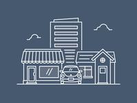 Insurance product illustrations dark