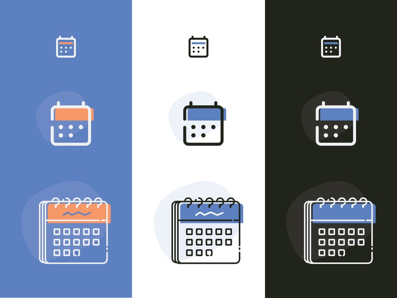 Responsive Icons Article iconography responsive icons responsive design calendar ui vector illustrator illustraion product design icons responsive