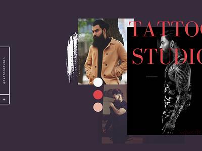 Website UI (Tattoo Studio) illustration website ux website design ui design behance dribble minimal design web branding ui