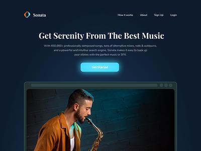 Sonata - Music Events Landing Page music art events concert music event ux branding color web design website web uiux uidesign design ui