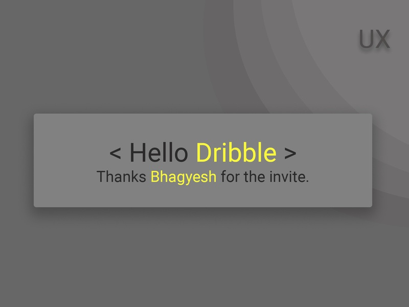 Hello Dribbble app web ux