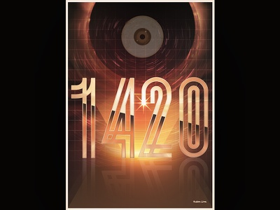 """""""Retrofuturistic"""" Poster retro scifi poster cyberpunk futuristic space chrome lights"""