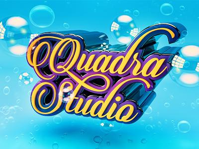 Dribble typography 3d lettering bubbles render wallpaper water swim swimming pool cyan reflection