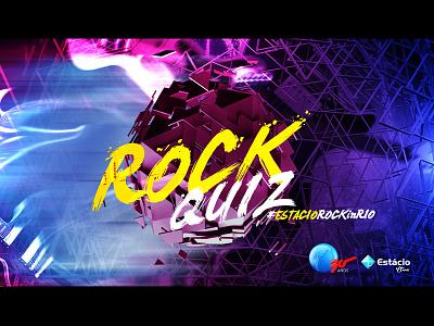 """Rock Quiz"" - Banner render photoshop brush guitarra guitar university festival colors banner music rock"