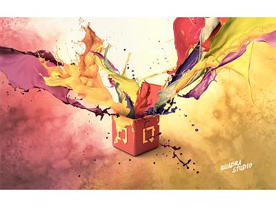 Splash - QuadraStudio cinema4d photoshop c4d brush colors render paint tint splash