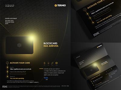 Blockcard - Brochure debit card credit card bank card bank money print bitcoin cryptocurrency blockchain brochure