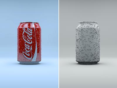3D Coke colors light design 3d 3d model can coca-cola coke vray octane c4d modelling render cgi cinema 4d