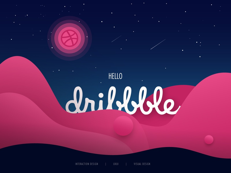 Hello Dribbble! hello dribbble thank you dribbble first shot design typography
