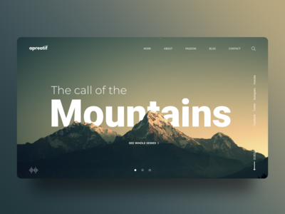 The call of the Mountain! landscape branding landing page color uiux landing page design web design creative design adobe xd concept uidesign dribbble