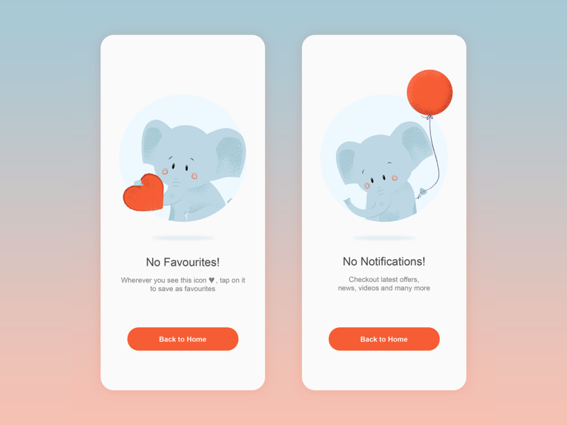 App screens with cute illustration adobe illustrator branding color app app design creative design mobile ui mobile app design concept uidesign dribbble ui illustration adobe xd