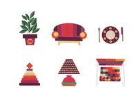 Icons for loyalty card