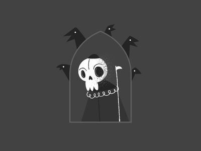 Dark Dude ravens skull