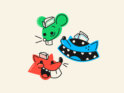 Jerks soda can stickers heads animals jerks squirrel mouse raccoon soda