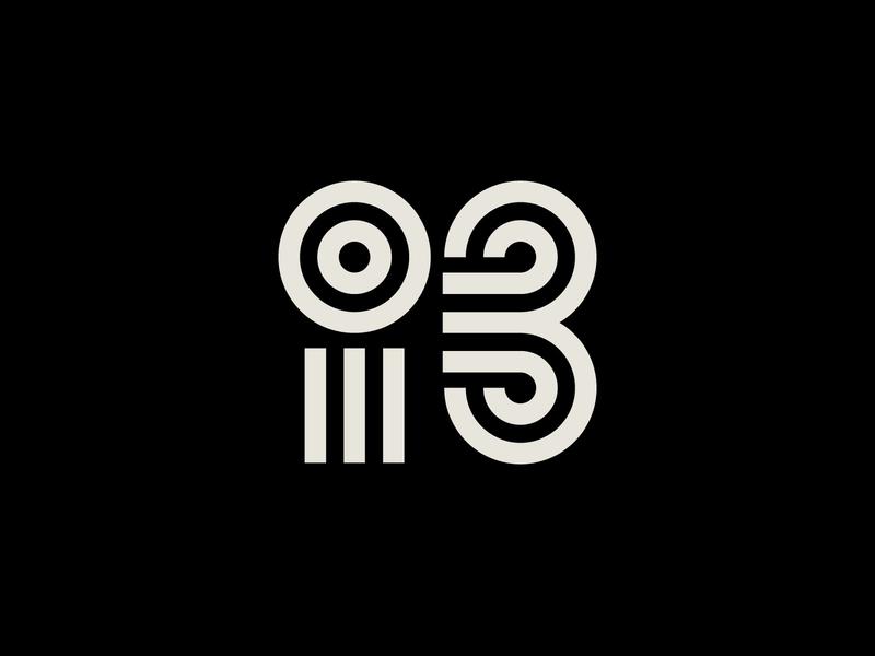 Conference minimal shapes number i letter 3 mark abbreviation monogram conference