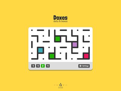 Doxes Game UI android webdesign ios mobile uxdesign uidesign flat gameui webui colorful dotsandboxes minimal html5 web webapp app clean ux ui game