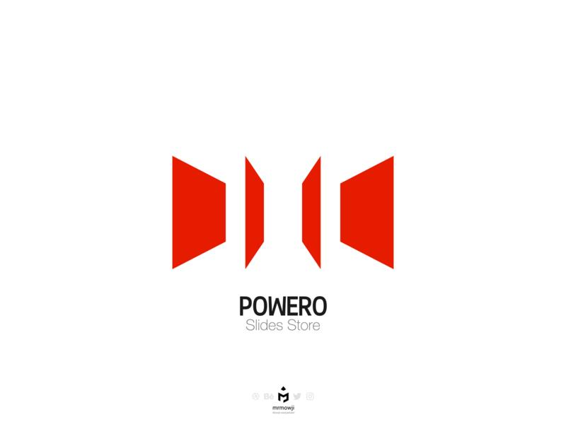 Powero Slides Store Logo logoinspiration logos logo design minimalistic store logodesign concept minimalism minimalist branding brand logo minimal