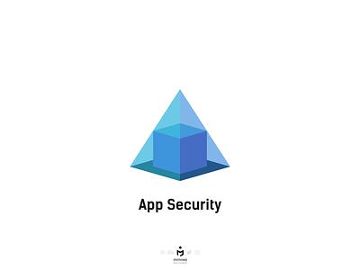 App Security Logo minimalist pyramidlogo securitylogo applicationlogo applogo minimallogo minimalism minimal logodesigner logotype logodesign logo