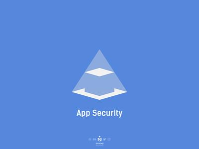 App Security Logo logoinspiration logodesign logobrand minimalist pyramidlogo cubelogo minimalisticlogo minimallogo minimalism minimal negativespace securitylogo applicationlogo applogo