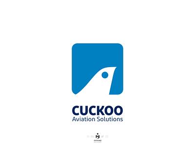Cuckoo Aviation Solutions Logo airplanetail airplane aviationlogo airplanelogo birdlogo minimalistic minimalism minimalist minimallogo minimal logodesign logo cuckoo