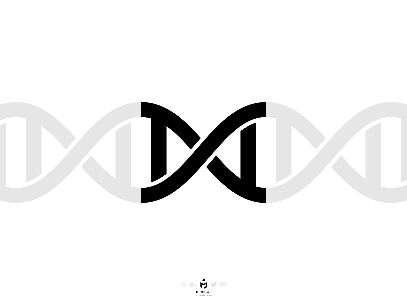 DNA Typography ambigram strand strands simple words word minimalist minimalism minimal meaning english concept vector inkscape bioinformatics typography biology dna
