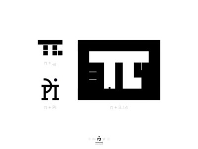 Pi Typography in 3 forms