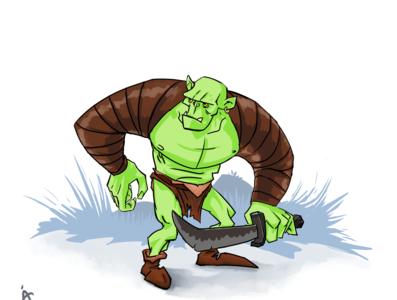 Orc character design digital art clip studio paint fantasyart fantasy art orcs orc design illustration